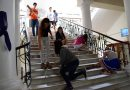Intervención en la escalera central