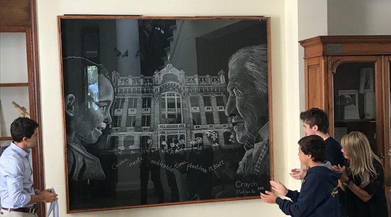 La Directora inauguró la obra de Matías Ré